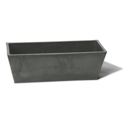 Algreen Valencia Durable Inside/Outside 20 x 7.5 x 6.5 Inches Decorative Windowsill Planter Box, Light Charcoal
