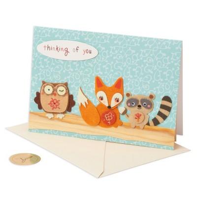 Papyrus Woodland Animals Thanksgiving Card