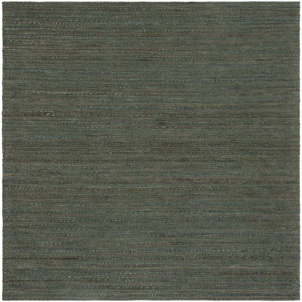 6'X6' Solid Woven Square Area Rug Dark Green - Safavieh
