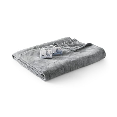 Microplush Electric Blanket (Queen)Gray - Biddeford Blankets
