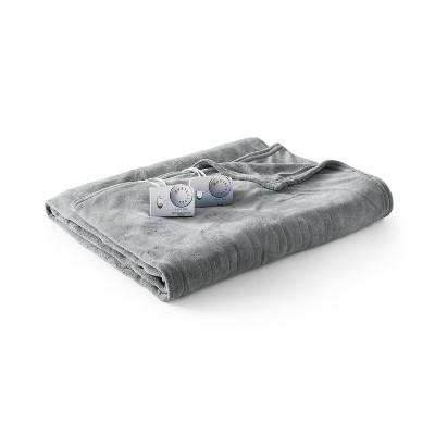 Microplush Electric Blanket (Queen)Gray - Biddeford Blankets