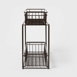 2 Tier Slide Out Storage Rack Slim - Threshold™