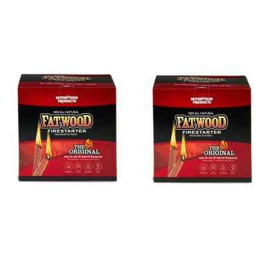 Betterwood Products 9910 Non-Toxic Fatwood 10-Pound Firestarter (2 Pack)