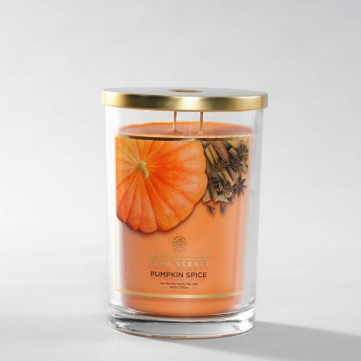 Glass Jar Pumpkin Spice Candle - Home Scents