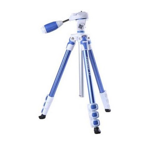 FotoPro S3 4-Section Aluminum Photo & Video Tripod with Ballhead, Holds 6.6 Lbs, Extends to 4.7', Folds to 18.5 , Blue - image 1 of 1