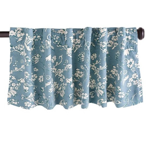 """Floral Damask Rod-Pocket Insulated Curtain Valance, 42"""" W x 14"""" L - Plow & Hearth - image 1 of 2"""