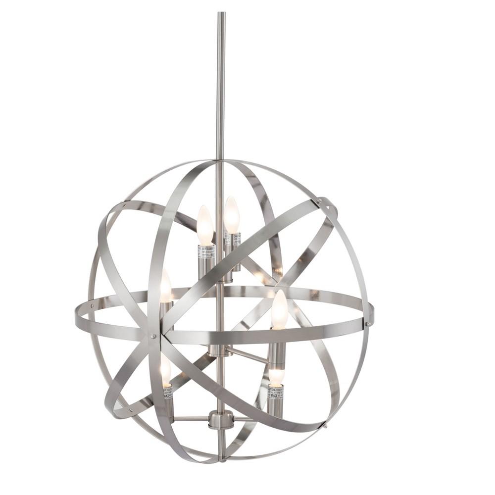 Multi-Tier 23 Geometric Ceiling Lamp - Satin Nickel - ZM Home