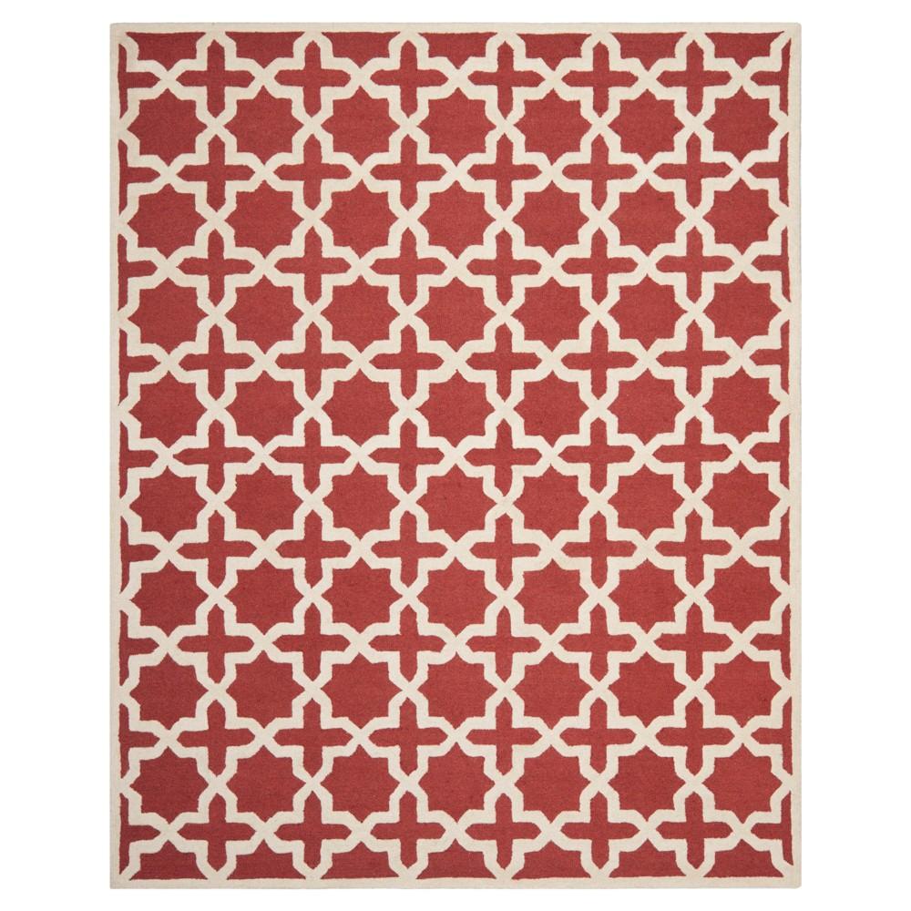 8'X10' Geometric Area Rug Rust/Ivory (Red/Ivory) - Safavieh