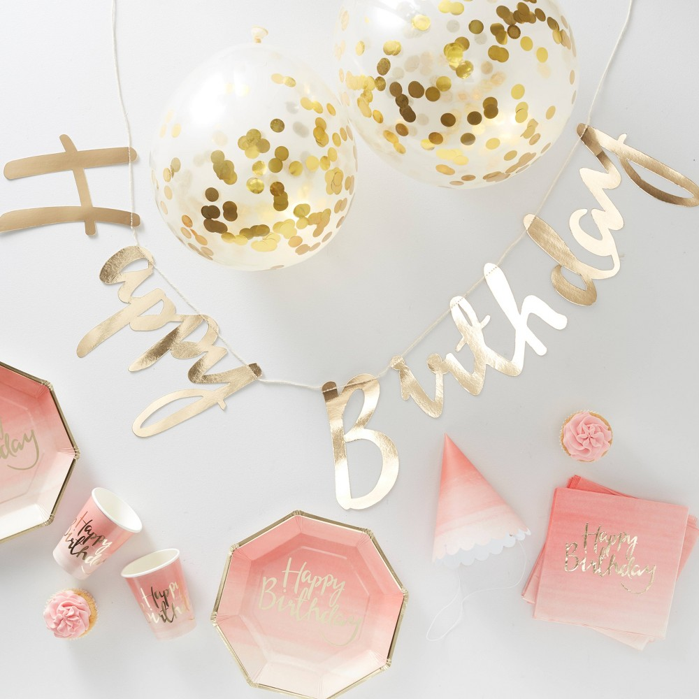 Image of Party In A Box Gold Ombre, Pink