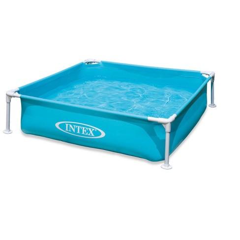 Intex 57173Ep Mini Frame Kiddie 4Ft X 4Ft X 12In Beginner Frame Swimming  Pool