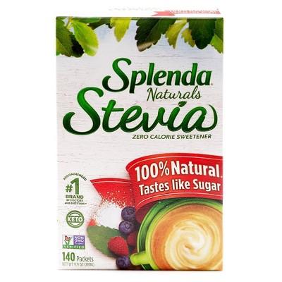 Splenda Stevia 100% Natural Zero Calorie Sweetener Packets 9.9oz/140pk