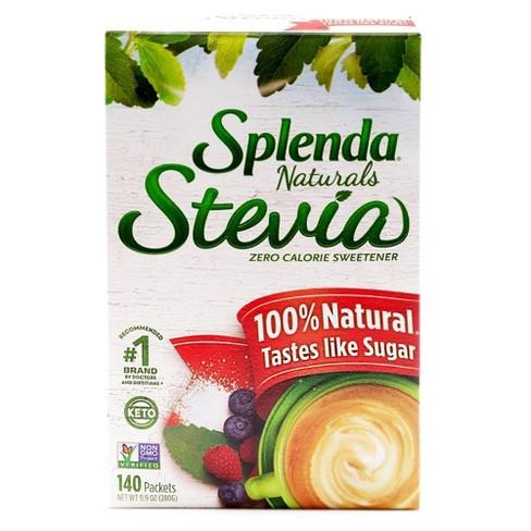 Splenda Stevia 100% Natural Zero Calorie Sweetener Packets 9.9oz/140pk - image 1 of 4