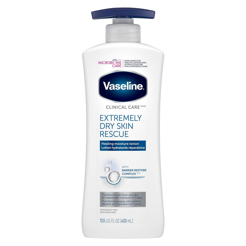 Image of Vaseline Clinical Care Extremely Dry Skin Rescue Hand And Body Lotion - 13.5oz