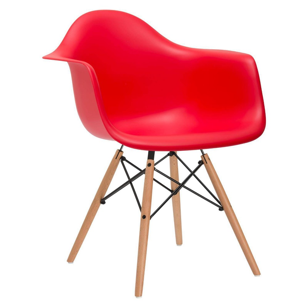 Image of Bianca Mid Century Arm Chair Red - Poly & Bark