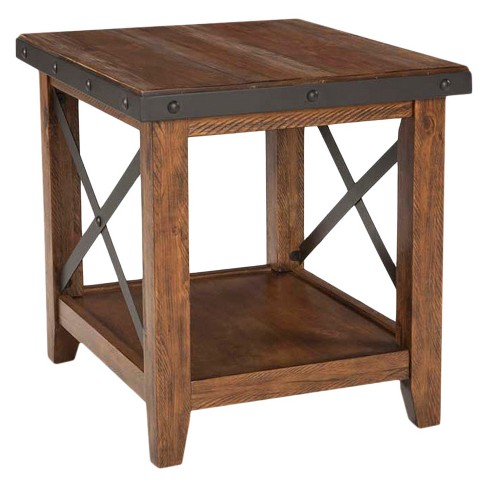 Taos End Table Brown - Intercon - image 1 of 1