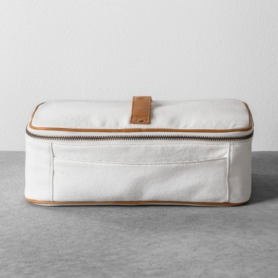 Cosmetic Bag Canvas - White - Hearth & Hand™ with Magnolia