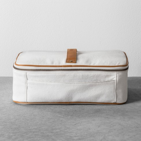 5b9c4a647a28 Cosmetic Bag Canvas White - Hearth & Hand™ with Magnolia