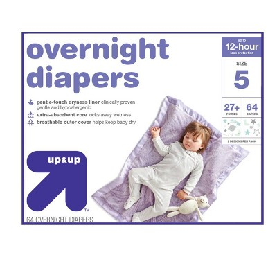 Overnight Diapers - Size 5 - 64ct - Up&Up™