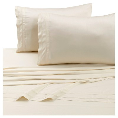 Rayon from Bamboo Deep Pocket Solid Sheet Set (Queen)Ivory 300 Thread Count - Tribeca Living