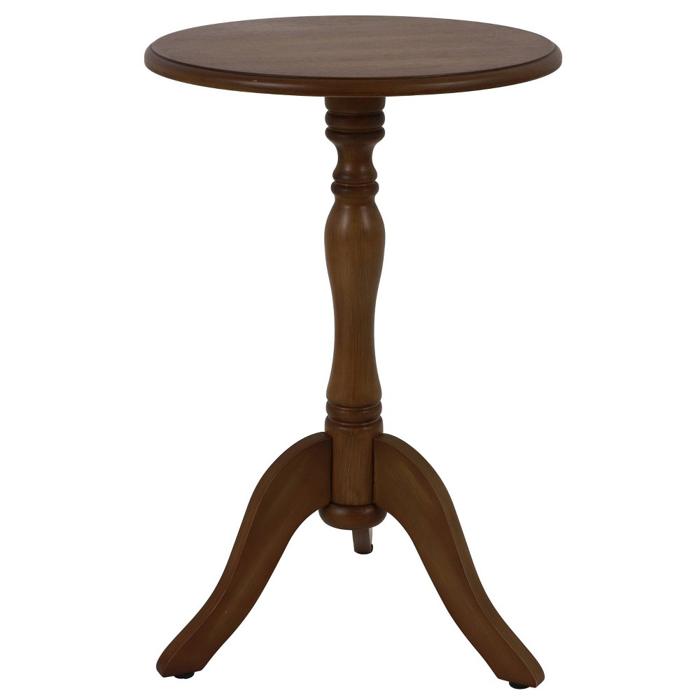Top Simplify Pedestal Accent Table  - Décor Therapy