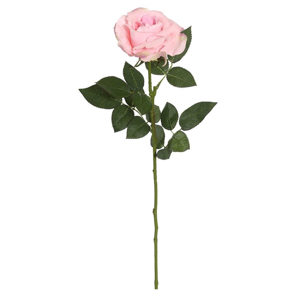 Image of Artificial (Pk/3) Rose Stem (27) Pink - Vickerman
