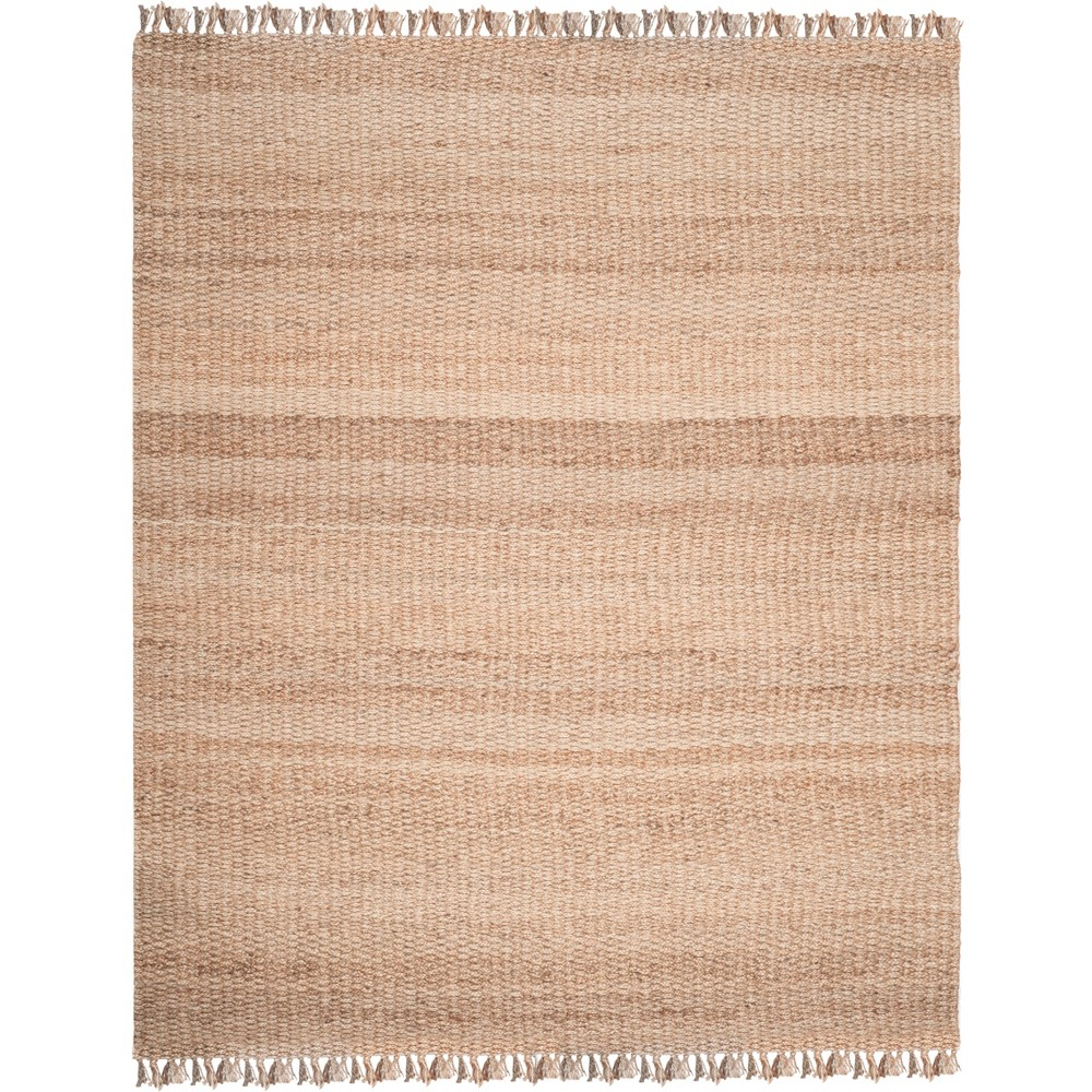 Solid Woven Area Rug Light Gray