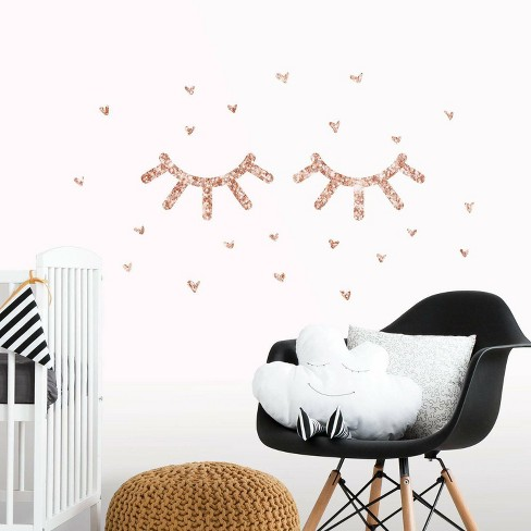 Eyelash Peel and Stick Wall Decal with Glitter - RoomMates - image 1 of 3