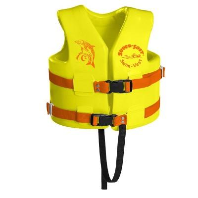 TRC Recreation Super Soft USCG Childs Foam Swim Vest, Small, Yellow