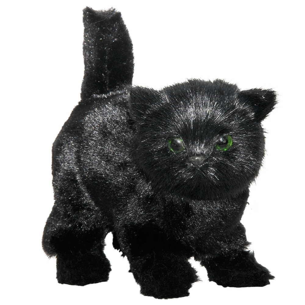 The Queen's Treasures 18 Inch Doll Pet Accessory, Truly Adorable Realistic Black Green Eyed Kitty Cat