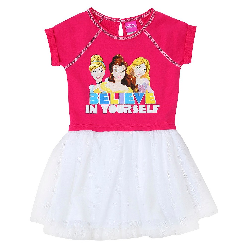 Toddler Girls' Disney Princess Believe In Yourself Dress Pink 5T