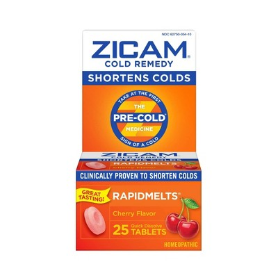 Zicam Cold Remedy RapidMelts Quick Dissolve Tablets - Cherry - 25ct