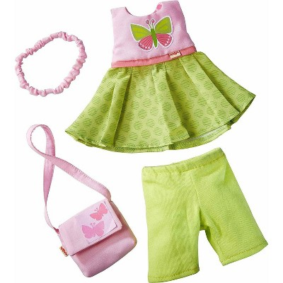 "HABA Butterfly Dress Set - 4 Piece Outfit for 12"" HABA Soft Dolls"