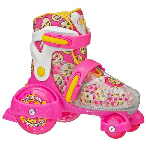 Roller Derby Fun Roll Girl's Jr Adjustable Roller Skate - Pink/White/Yellow - image 1 of 4