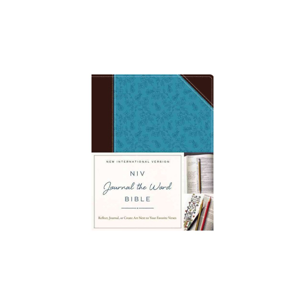 Holy Bible : Niv, Brown/Blue, Imitation Leather, Journal the Word Bible: Reflect, Journal, or Create Art