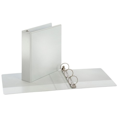 Cardinal Performer ClearVue Fiber Cover Board Round Ring Binder, 2 in, White - image 1 of 1