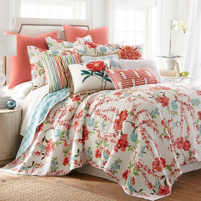 Simone Floral Quilt and Pillow Sham Set - Levtex Home