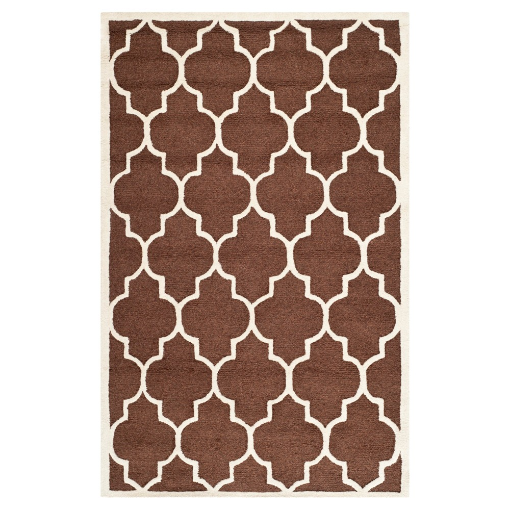 5'X8' Geometric Area Rug Brown/Ivory - Safavieh