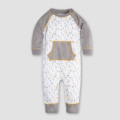 Burt's Bees Baby Boys' Organic Cotton This Way Coverall - Cloud 3-6M