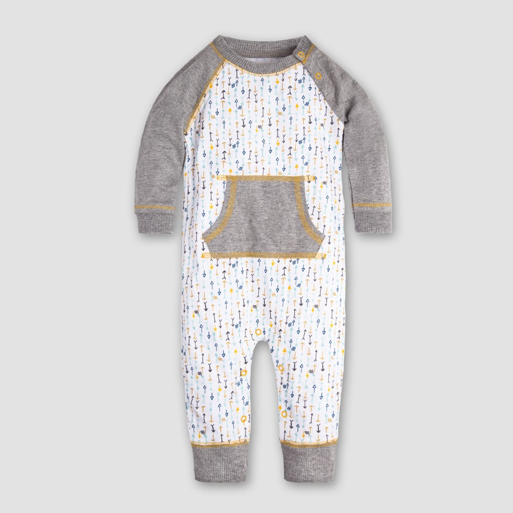 Burt's Bees Baby Boys' Organic Cotton This Way Coverall - Cloud 24M, Multicolored