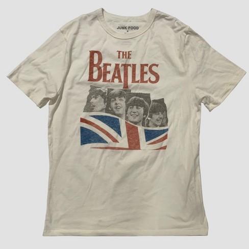 56db59b28 Junk Food Men's Short Sleeve The Beatles Graphic T-Shirt - White ...