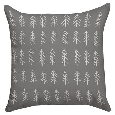 Gray Little Tree Throw Pillow (14 x14 )Thumbprintz