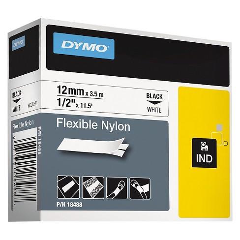 90a8192dabae DYMO Rhino Flexible Nylon Industrial Label Tape Cassette - 1/2in x 11 - 1/2  ft - White