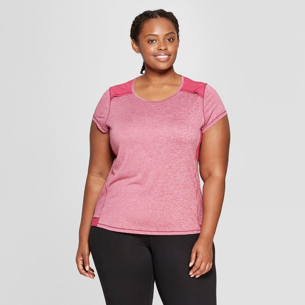 Women's Plus Size Short Sleeve Run T-Shirt - C9 Champion Berry Heather 4X
