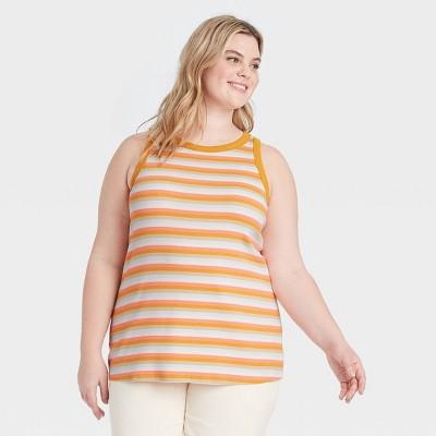 Women's Plus Size Ribbed Tank Top - Ava & Viv™