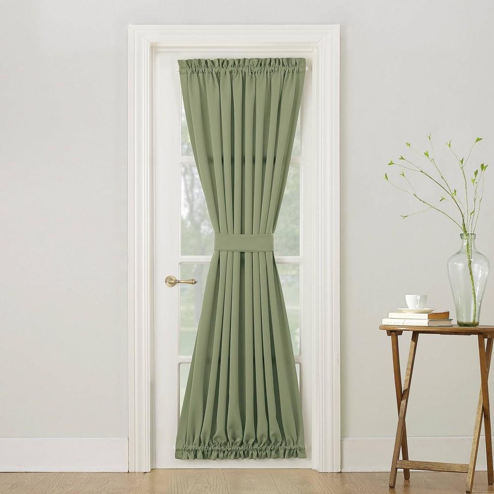 72 34 X54 34 Seymour Room Darkening Door Panel With Tieback Green Sun Zero