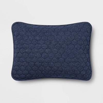 Standard Jersey Quilted Pillow Sham Navy - Room Essentials™