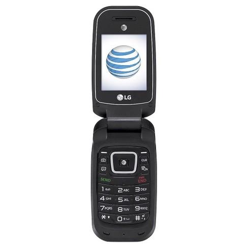 Att Prepaid Lg B470 Flip Phone Black Target