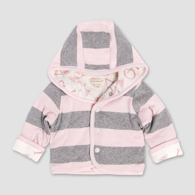 Burt's Bees Baby® Baby Girls' Bee Reversible Organic Puffer Cotton Jacket - Pink 6-9M