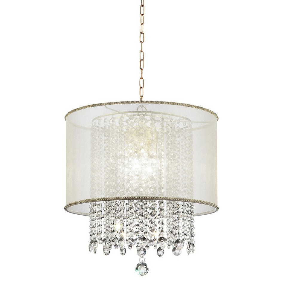 Image of Bhavya Crystal Ceiling Lamp - Bronze - Ore International