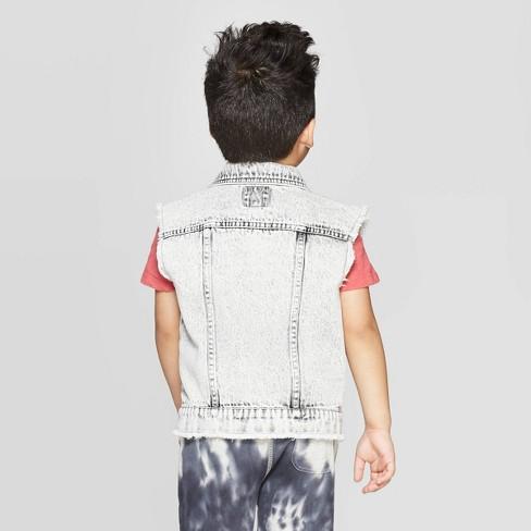 6d472877c Toddler Boys' Patch Denim Vest - Art Class™ Washed Gray 4T : Target